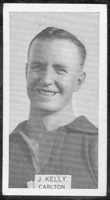 1933 W D & H O Wills Footballers Joseph Kelly trade card