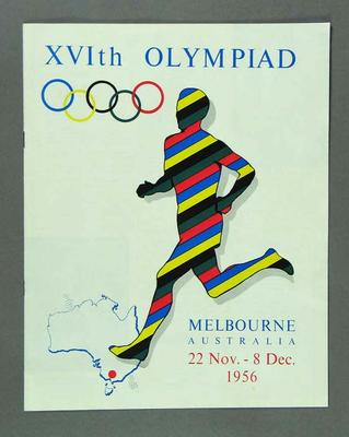 Australian tourism booklet, 1956 Olympic Games