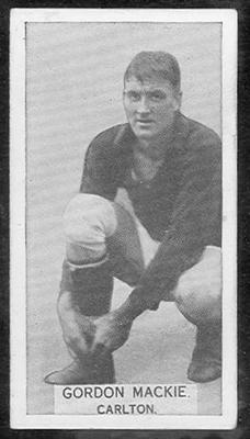 1933 W D & H O Wills Footballers Gordon Mackie trade card