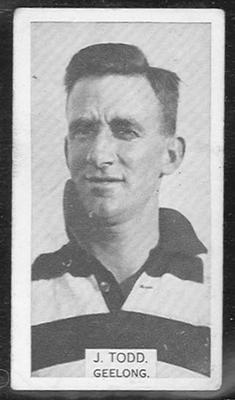 1933 W D & H O Wills Footballers Jocka Todd trade card