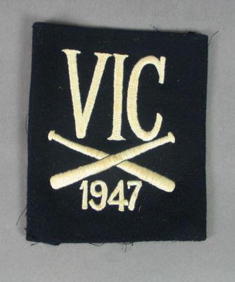 Blazer pocket, Victorian Baseball Association 1947