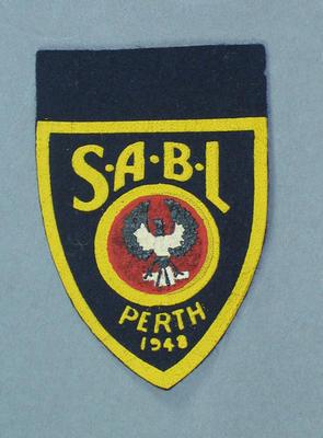 Cloth badge, SABL Perth 1948