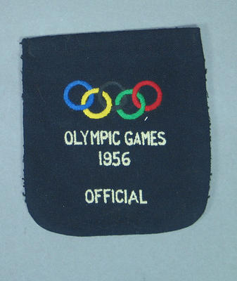 Blazer pocket, 1956 Olympic Games Official