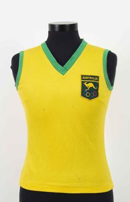 1976 Olympic Games Australian team singlet, worn by Raelene Boyle