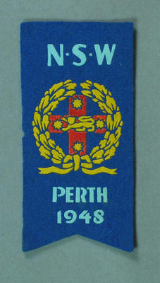 Cloth badge, NSW Perth 1948