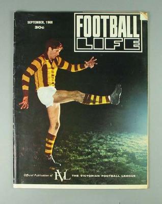 """Magazine, """"Football Life"""" September 1968"""
