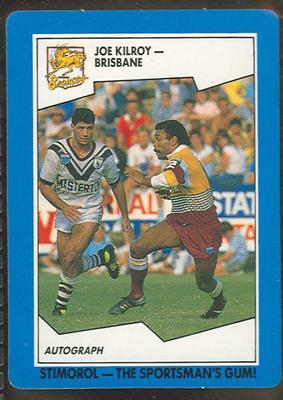 1989 Stimorol Rugby League Joe Kilroy trade card