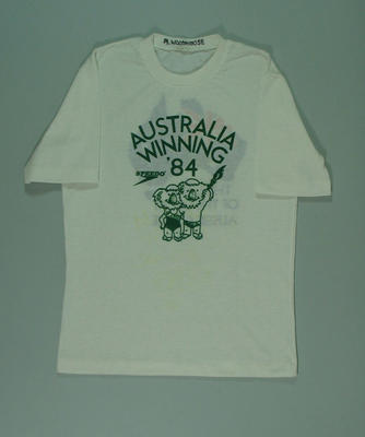 Australian team t-shirt, 1984 Los Angeles Olympic Games; Clothing or accessories; 1991.2479.2