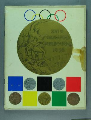 """Book, """"The Games of the Sixteenth Olympiad: Melbourne"""""""