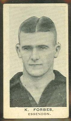 Trade card featuring Keith Forbes c1930s