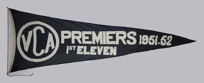 VCA Premiers 1951-52 First XI pennant
