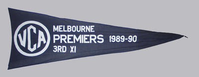 VCA Premiers 1989-90 Melbourne Third XI pennant