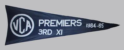 VCA Premiers 1984-85 Melbourne Third XI pennant