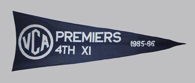 VCA Premiers 1985-86 Melbourne Fourth XI pennant
