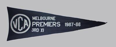 VCA Premiers 1987-88 Melbourne Third XI pennant