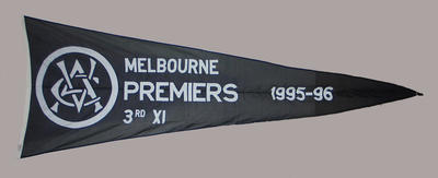 VCA Premiers 1995-96 Melbourne Third XI pennant
