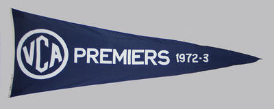 VCA Premiers 1972-73 pennant