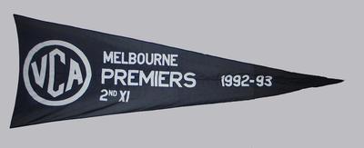 VCA Premiers 1992-93 Melbourne Second XI pennant