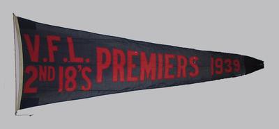 VFL Second XVIII Premiers 1939 pennant