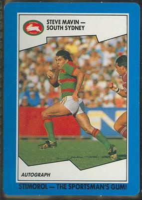 1989 Stimorol Rugby League Steve Mavin trade card