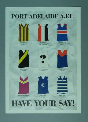 Brochure for Port Adelaide Football Club Logo design - 'Have Your Say! '