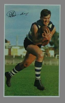 1965 Mobil VFL Foooty Photos - Doug Wade, Geelong,  Card No. 39 of 40; Documents and books; 2006.4421