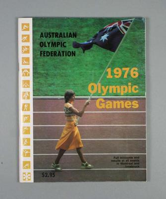 Booklet, Australian Olympic Federation 1976 Olympic Games results & records