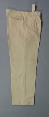 Cricket trousers worn by English cricketer William Voce