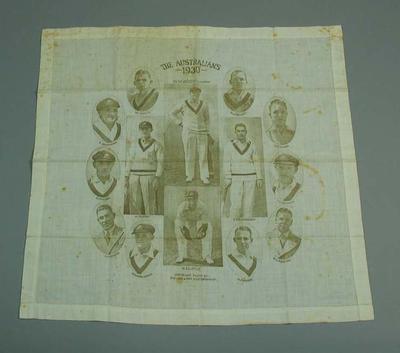 "Handkerchief, ""The Australians 1930"" design"