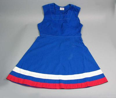 Cotton dress used for the 1954 Royal Visit Education Department Children's Display
