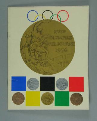 Book, 1956 Melbourne Olympic Games