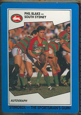 1989 Stimorol Rugby League Phil Blake trade card