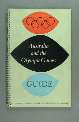 """Guide book, """"Australia and the Olympic Games Guide"""" 1956; Documents and books; 1992.2542.2"""