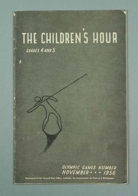 """Magazine, """"The Children's Hour grades 4-5"""" Nov 1956"""