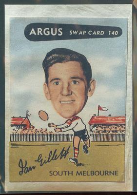 Colour photograph - 1954 Argus - VFL Football Caricature Swap Card No 141  -  Don Scott
