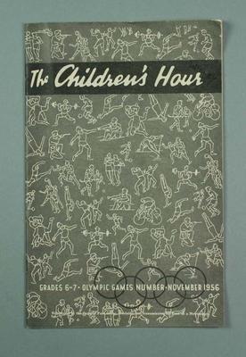 """Magazine, """"The Children's Hour grades 6-7"""" Nov 1956"""