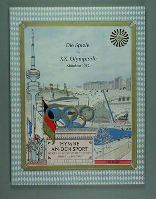 "Book, ""Hymn to Sport"" - 1972 Munich Olympic Games"