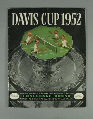 Programme - 1952 Davis Cup Challenge Round, Adelaide,  29-31 December