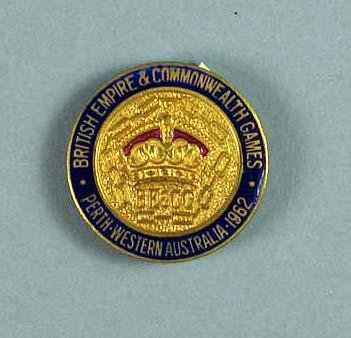 Badge - British Empire & Commonwealth Games, Perth, Western Australia, 1962