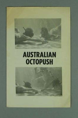"Brochure, ""Australian Octopush""; Documents and books; 1992.2627.18"