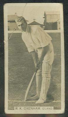 Trade card featuring Ron Oxenham c1930s