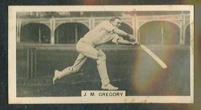 Trade card featuring JM Gregory c1930s