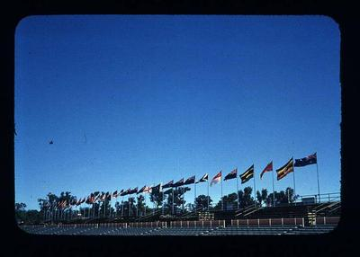 Transparency - 'Flags of C'Wealth Nations' taken by W. Ager at 1962 BE & CG, Perth