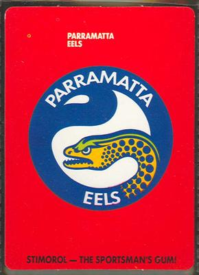 1989 Stimorol Rugby League Parramatta Eels trade card