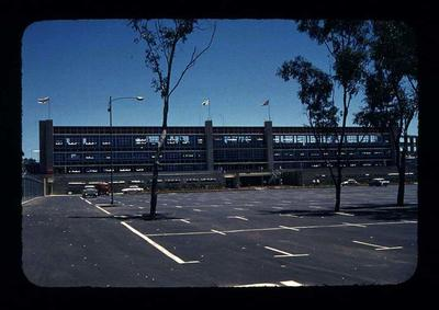 Transparency - 'Main Entrance, Grand Stand, Perth' taken by W. Ager at 1962 BE & CG, Perth