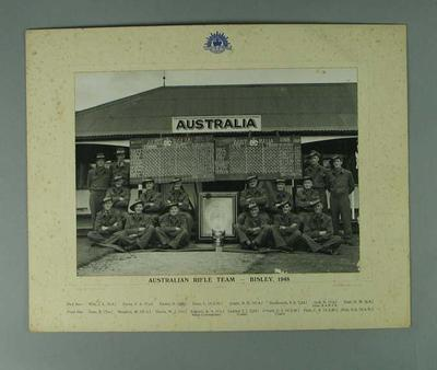 Photograph of Australian Rifle Team at Bisley,  1948 - Empire Trophy