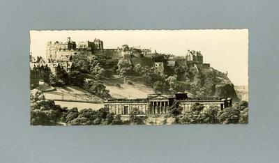 Postcard with image of Edinburgh Castle
