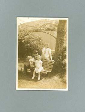 Photograph of George Moir and family, October 1945; Photography; 1987.1627.210