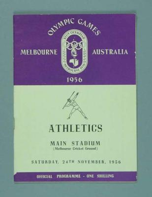Programme for 1956 Olympic Games athletics events, 24 Nov