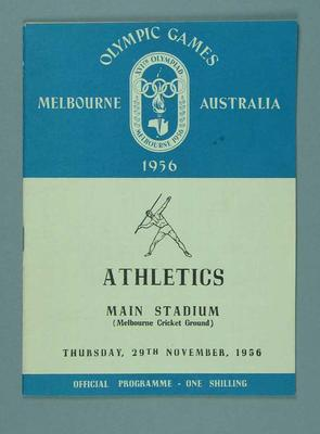 Programme for 1956 Olympic Games athletics events, 29 Nov